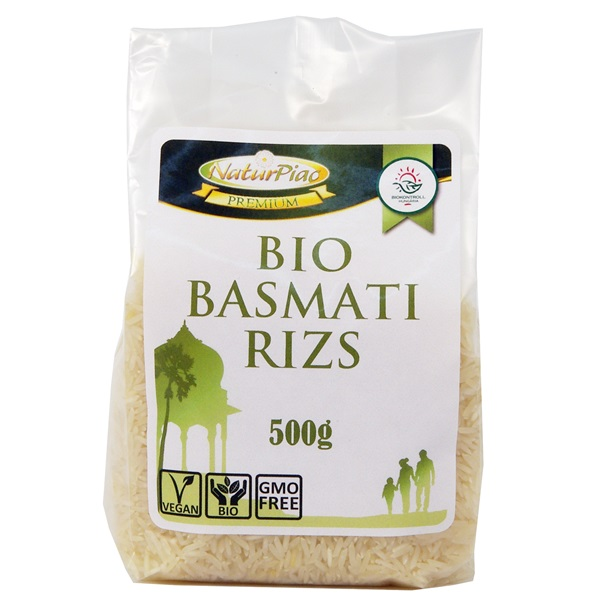 KILISTÁZVA - Basmati rizs fehér 500g Bio NaturPiac Premium..